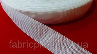 Тесьма окантовочная 23 мм ковровая белая