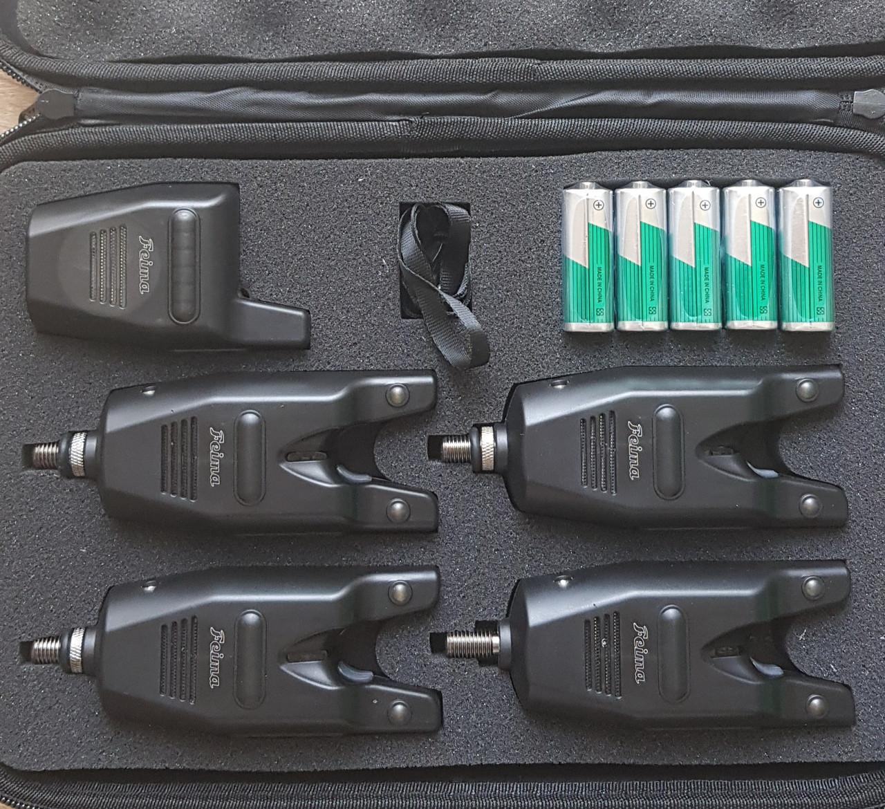 Набор сигнализаторов 4+1 пейджер Feima FA 218-4 в кейсе