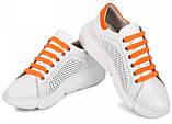 Кросівки молодіжні з натуральної шкіри з перфорацією від виробника модель МАК1844, фото 3