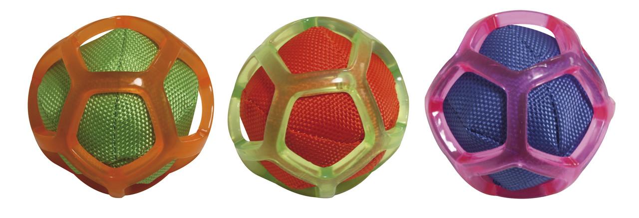Игрушка для собак CROCI. Тканевый мяч в силиконовой сетке, 8 см, цвет в ассортименте