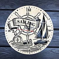Настенные часы из дерева «Плавание под парусом», фото 1