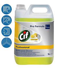 Cif All Purpose Cleaner універсальний засіб для чищення всіх водостійких поверхонь концентрат 5л Лимон
