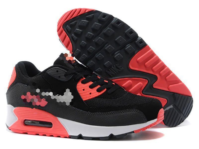Кроссовки стильные черные с красным
