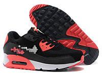 Кроссовки стильные черные с красным, фото 1