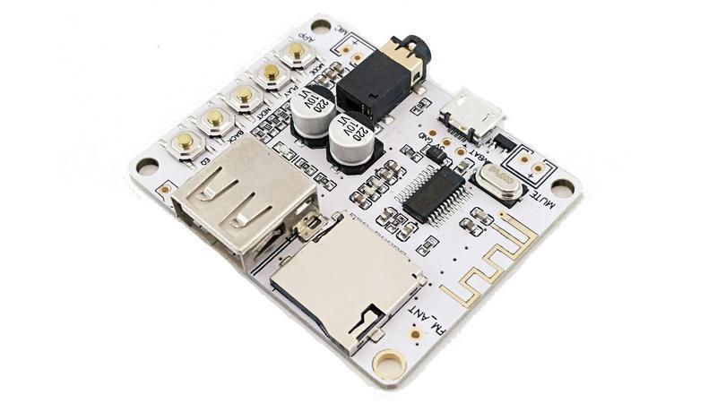 Плата Bluetooth MP3 беспроводной аудио приемник 3.7V Micro USB (12303)