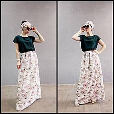 Длинное красивое летнее платье 44-64 р-ры, фото 3