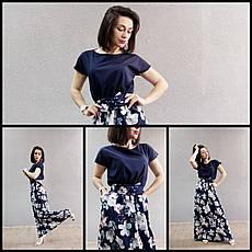 Длинное красивое летнее платье 44-64 р-ры, фото 2