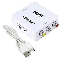 HDMI - AV RCA конвертер видео, аудио, белый