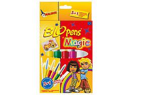 Фломастеры-аэрографы волшебные MALINOS BLOpens Magic 5 (4+1+1) шт