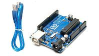 Отладочная плата контроллер Arduino Uno R3 ATmega328 USB кабель (12510)