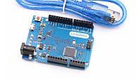Отладочная плата контроллер Arduino Leonardo R3 USB кабель (12511)