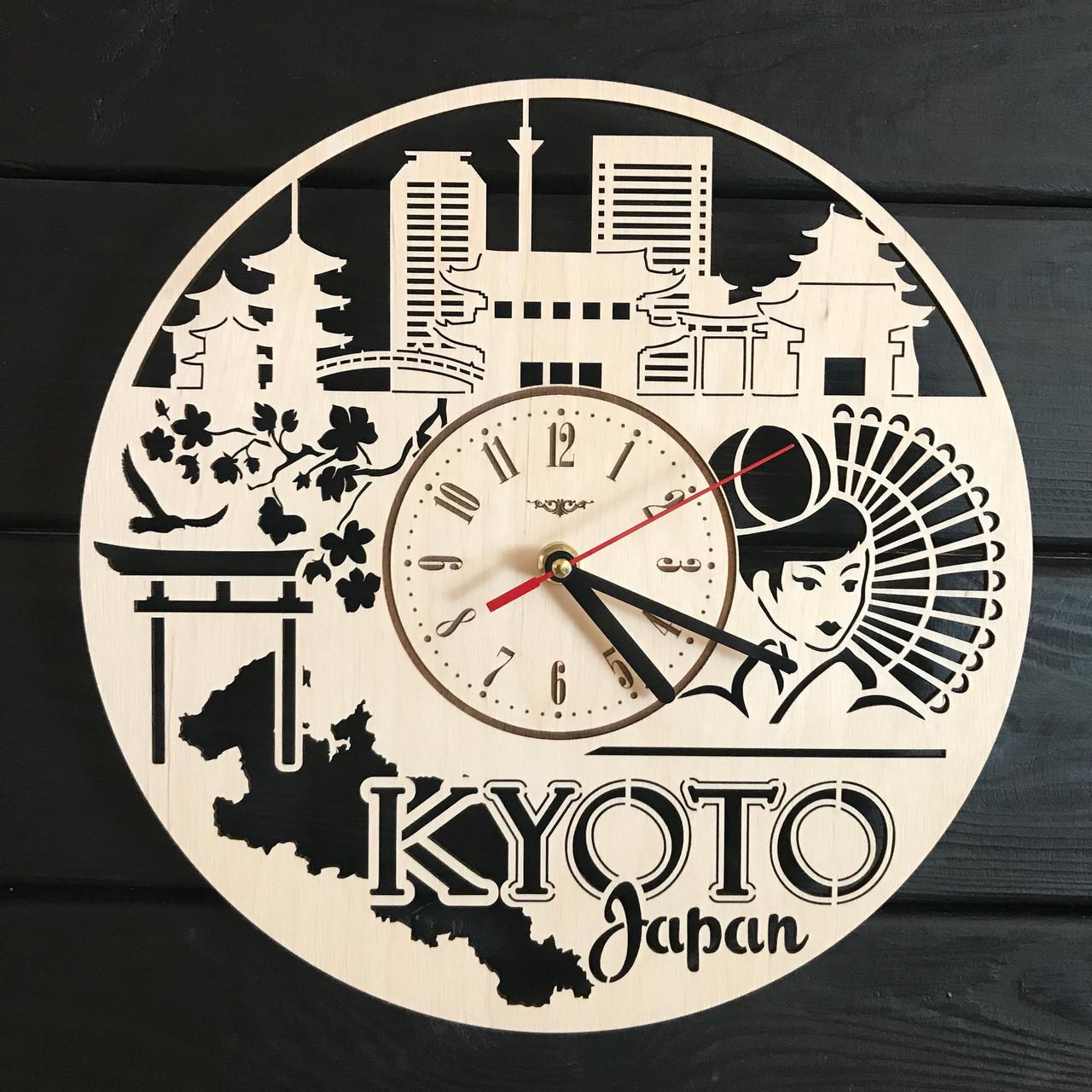 Декоративные деревянные часы на стену «Киото, Япония»
