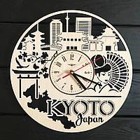 Декоративные деревянные часы на стену «Киото, Япония», фото 1