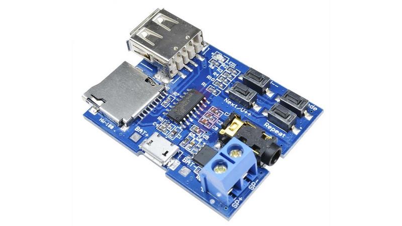 Плата стерео аудио плеер MP3 декодер USB micro SD (11123)