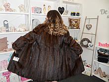 Красива норкова шуба магазин норкових шуб в Харкові натуральна норка шуба з норки 52 розмір розстрочка 0%