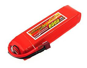 Аккумулятор Dinogy Li-Pol 6000mAh 11.1V 3S 30C 34x47x169мм T-Plug