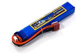 Аккумулятор для страйкбола Giant Power Li-Pol 11.1V 3S 1300mAh 25C 18х21х130мм T-Plug