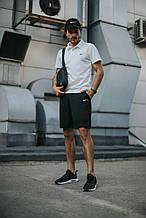 Мужской летний комплект в стиле Nike (шорты+поло+кепка), БАРСЕТКА в подарок