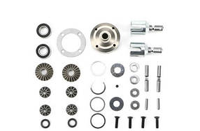 Team Magic E6 F/R Differential Set With Steel Case for BES