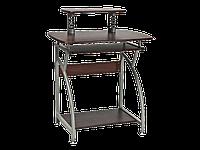 Рабочий стол B-07 Signal 74x55 столешница из МДФ, цвет: темно-коричневый / алюминиевая рама
