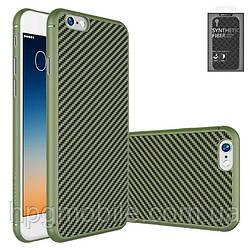 Чехол для iPhone 6 Plus, iPhone 6S Plus - Nillkin Synthetic fiber, Ultra Slim, пластик Зеленый