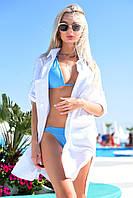 Туника-рубашка женская пляжная размер 42-48, 48-52