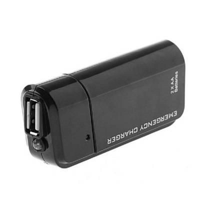 Power Bank, внешний аккумулятор от 2 АА батарей, USB +фонарик, фото 2