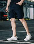 Мужские классические брюки, черные мужские классические шорты, черные шорты-брюки, фото 2