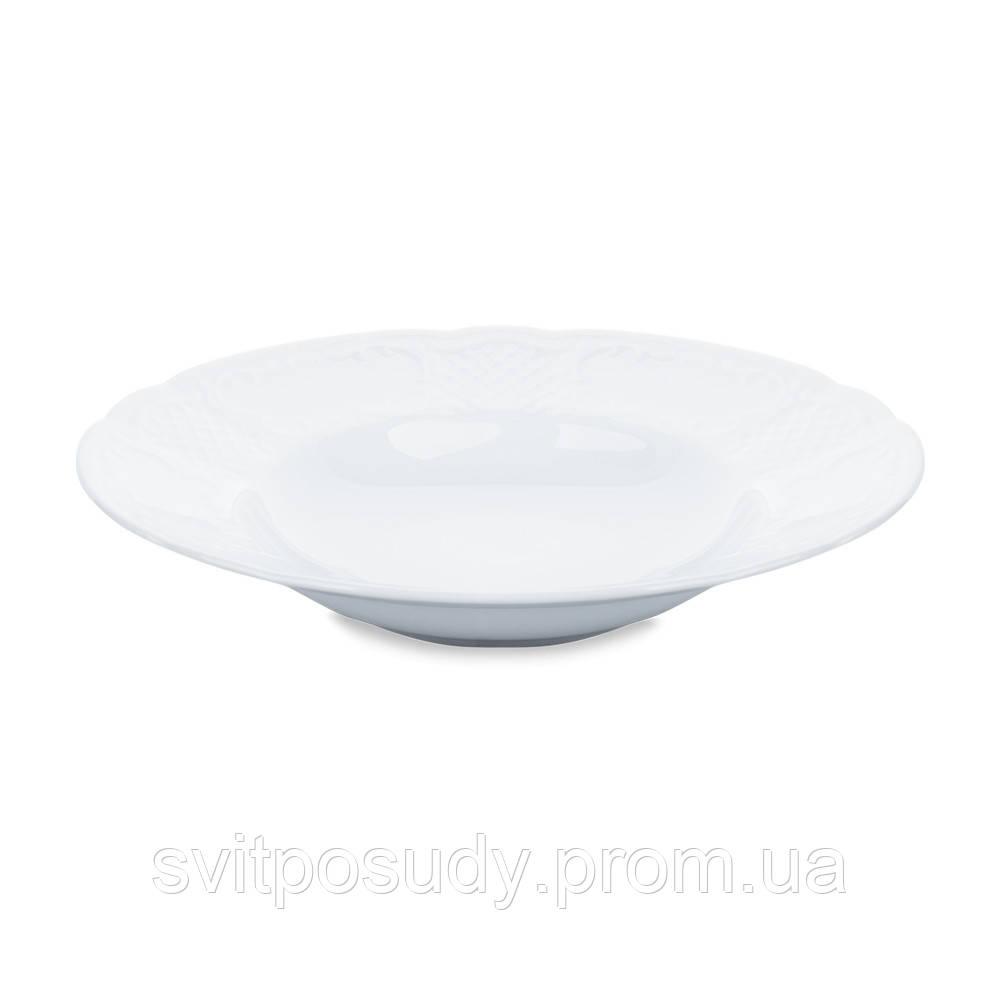 Тарелка 240 мм глубокая для пасты Kaszub Hel LUBIANA Польша 0222