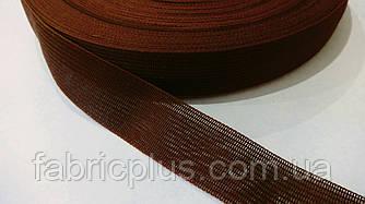 Тесьма окантовочная 23 мм ковровая коричневая