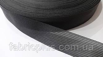 Тесьма окантовочная 23 мм ковровая темно-серая