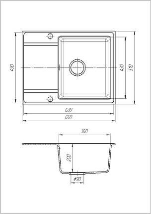 Кухонная мойка Galati Jorum 65 Bezhvy (401), фото 2