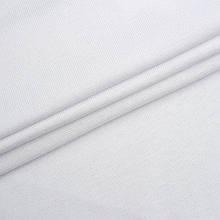 Трикотаж Рибана однотонная, белая, качество пенье. Купить оптом рибану в Украине