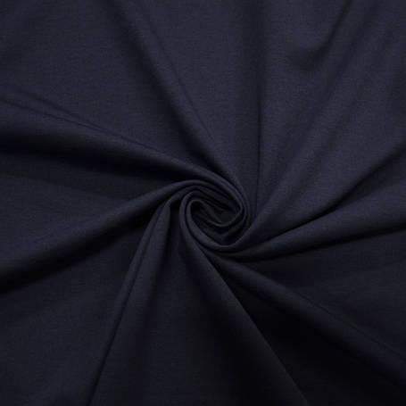 Трикотаж Рибана однотонная, темно синяя, качество пенье. Купить оптом рибану в Украине, фото 2