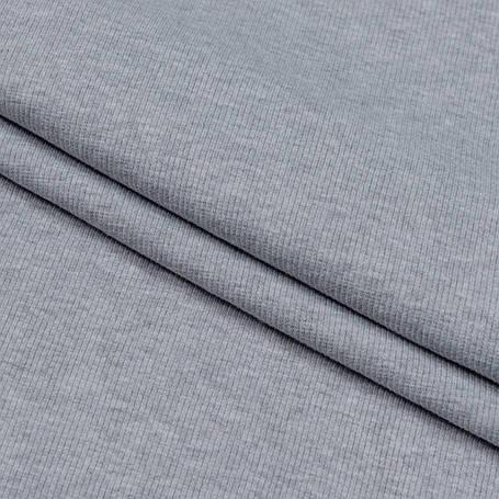 Трикотаж Рибана однотонная, серый меланж, качество пенье. Купить оптом рибану в Украине, фото 2