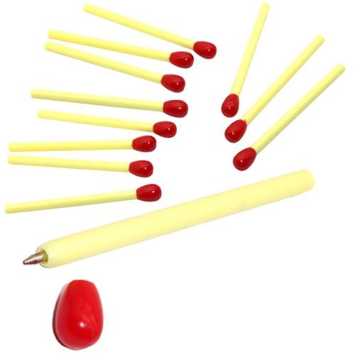 12x Ручка мини шариковая Спичка, синий 0.5мм