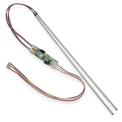 2x LED лампа подсветки монитора, контроллер, до 24, фото 2