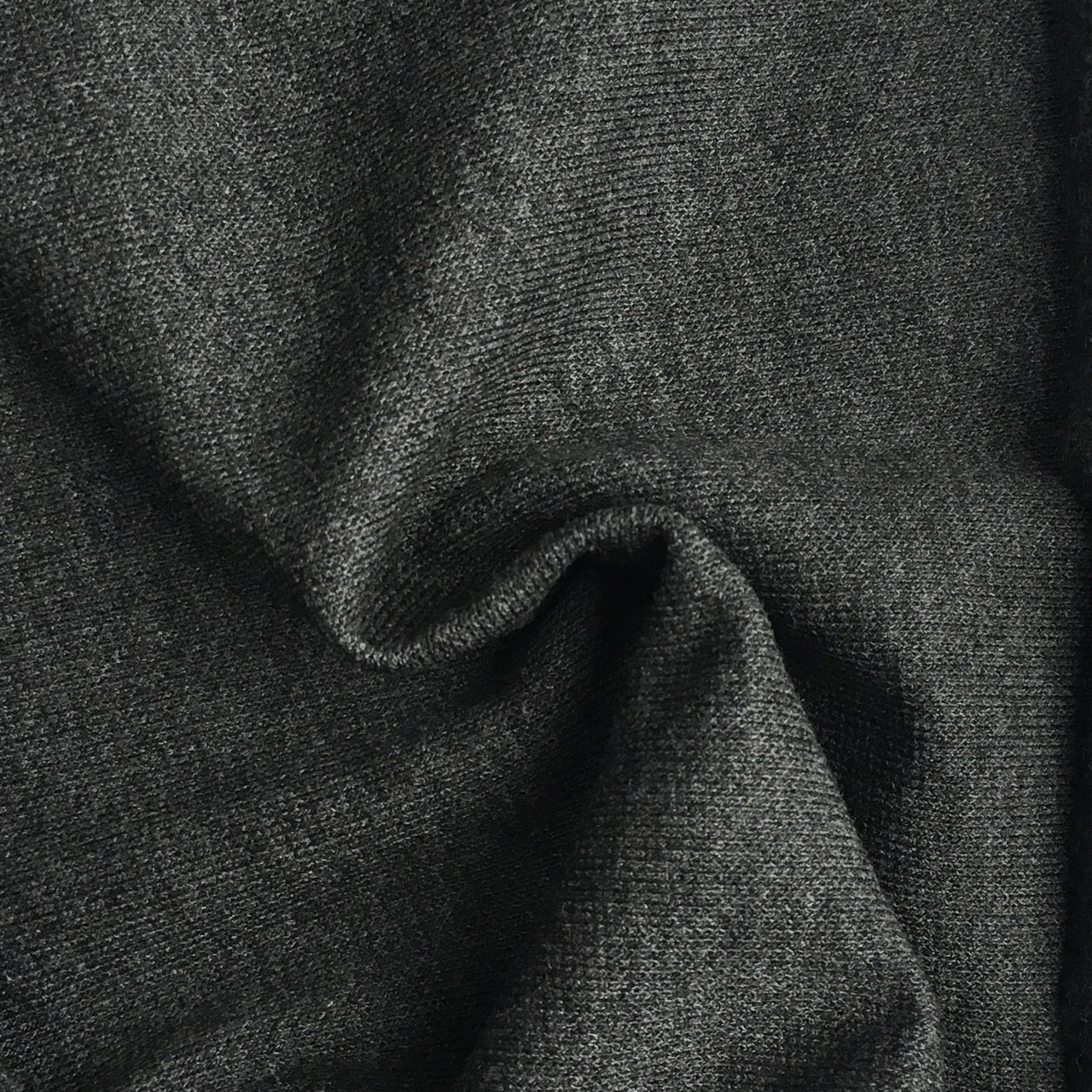 Трикотаж Рибана однотонная, антрацит (темно серый), качество пенье. Купить оптом рибану в Украине