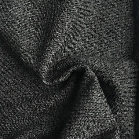 Трикотаж Рибана однотонная, антрацит (темно серый), качество пенье. Купить оптом рибану в Украине, фото 2