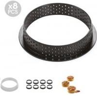 Набор форм для тарталеток 8 шт. (d 70 мм) Silikomart (TARTE RING ROUND D70 MM)