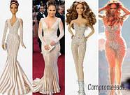 Колекційна лялька Барбі Дженніфер Лопес Червона Килимова Дорож (Jennifer Lopez Red Carpet Doll) X8287 Mattel, фото 6