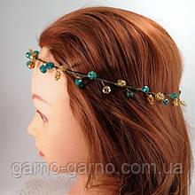 Венок хрустальная Тиара прозрачная  Диадема ветка ручная работа украшение для волос зеленый