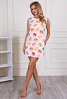 Яркое женское модное платье-сарафан (42-52), доставка по Украине