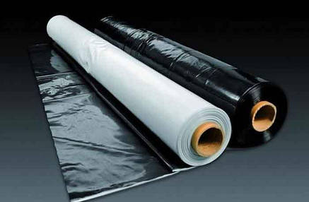 Пленка Строительная Черная 100 мкм, фото 2