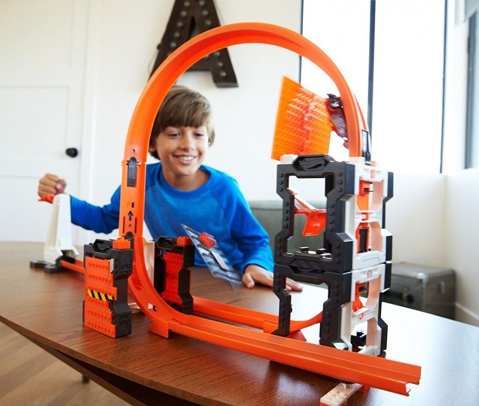 Hot Wheels Track Builder Construction Crash Kit / Трек Хот Вилс Ударная волна
