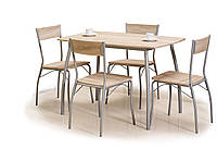 Кухонный комплект стол и 4 стула Signal Modus в скандинавском стиле дуб сонома Польша