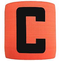 Капітанська пов'язка на липучці SWIFT Capitans Band Senior, чорна (кольори в асортименті) Оранжева