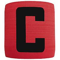 Капітанська пов'язка на липучці SWIFT Capitans Band Senior, чорна (кольори в асортименті) Червона