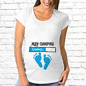 Футболка женская для беременных с рисунком, надписью