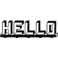 Металлическая настенная вешалка Hello (черная)
